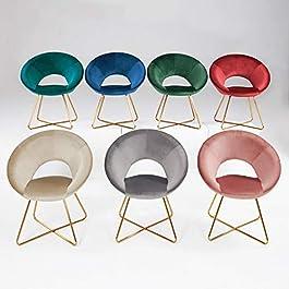 DUHOME Chaise Salle à Manger en Tissu (Velours) Chaise de conférence réception sélection de Couleur Design Excellent…