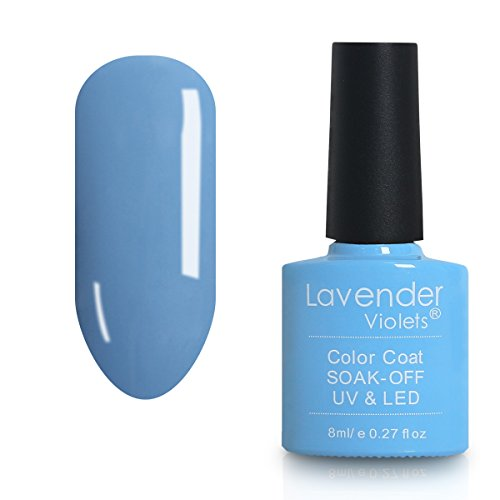 Lavendel Veilchen® Salon Soak Off Gel Nagellack UV-LED-Farben Lack 8 ml Air Blue – D132