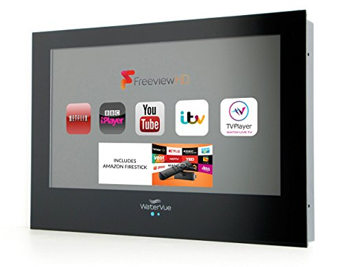 24inch Black Bathroom TV INCLUDES Amazon Firestick Waterproof TV