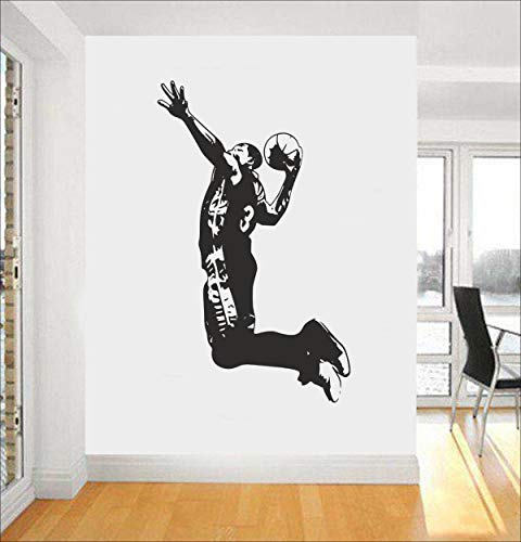 Kreativer Aufkleber Athlet der Persönlichkeit der Persönlichkeit tauchte Basketball geschnitzte Wandaufkleberwohnzimmerschlafzimmer-Hintergrunddekoration ein