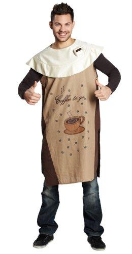 Rubie's Herren Damen Kostüm Coffee to go Kaffeebecher Karneval Fasching Gr.M