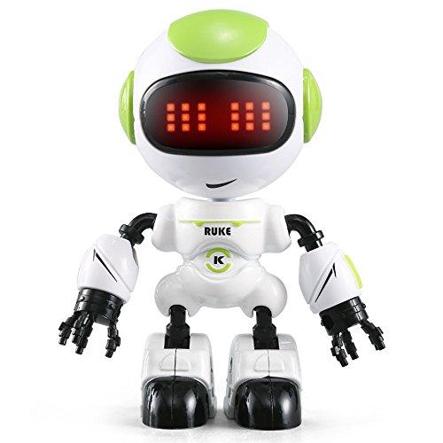 ALIKEEY Kinder Lernspielzeug, JJRC R8 Sensing Touch Multifunktions Musik Smart Mini Legierung Roboter Kinder Spielzeug Geschenk FÜR MÄDCHEN Jungen FÜR MÄDCHEN Jungen