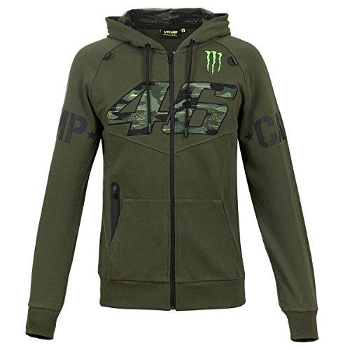 Valentino Rossi Herren Jacke Zip-Hoodie Monster Camp Camouflage VR46 Monster Energy ()
