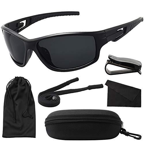 MAXJULI Polarisierte Sportbrille Sonnenbrille Herren Damen Tr90 Rahmen für Laufen Angeln Baseball Fahren MJ8013