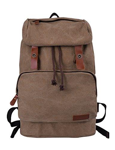 DGY Unisex-Erwachsene Uni Canvas Rucksack E00119 Braun