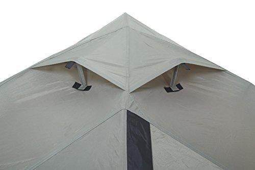 Wechsel tents EXTREM ZELT   Charger Travel Line   Profi Kuppelzelt   spezielle Gestängeverbindungsknoten für eine HOHE Stabilität   2 Personen Geodät   auch ohne Innenzelt nutzbar   Farbe: braun - 3