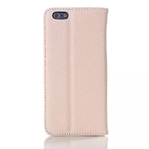 iPhone Case Cover la couleur de la peau de cuir solide modèle litchis cas pour iphone 6 6 ( Color : Brown , Size : IPhone 6 6s ) White