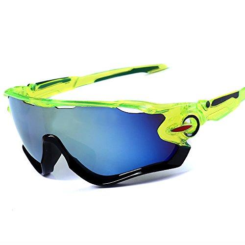 Sport Sonnenbrille Grüner Rahmen Gold Mercury Lens 1 Pack