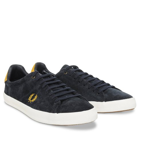 Fred Perry Howell Unlined Suede Navy B3264 Navy