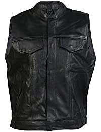 Gilet de motos sans manches - homme - cuir - style « Sons Of Anarchy »