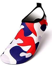 JYDAN Zapatos De Agua Yoga para Hombres Mujer Descalzo Secado Rápido  Calcetines De Buceo Playa Calzado 9f9cb77effc