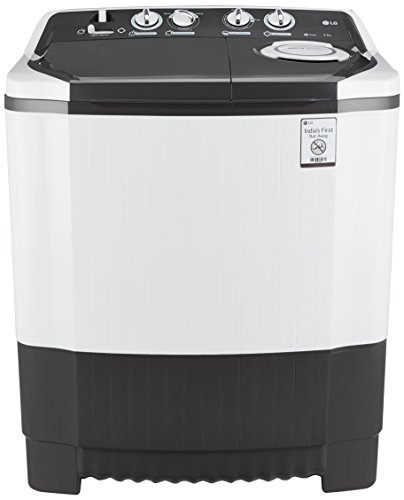 LG 6.5 kg Semi-Automatic Top Loading Washing Machine (P7550R3FA, Dark...
