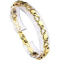 JOVIVI Damen Magnetarmband Edelstahl Magnetische Armreif Magnete Armband Armrief, Hohl Liebe Herz Stil Gold preisvergleich bei billige-tabletten.eu