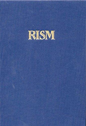 Répertoire International des Sources Musicales (RISM) / Das deutsche Kirchenlied: Verzeichnis der Drucke, Register: Serie B/VIII / Bd 1 /Tl 2 (Tl 2-serie)
