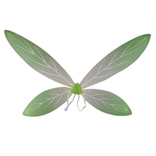 IPOTCH Glitzer Elfen Flügel Fee Elfe Kostüm Schmetterlingsflügel l für Karneval, Fasching, Halloween, Motto Party / Verkleidung - Grüner Gradient, 90 x 56 (Fee Elfen Kostüm)