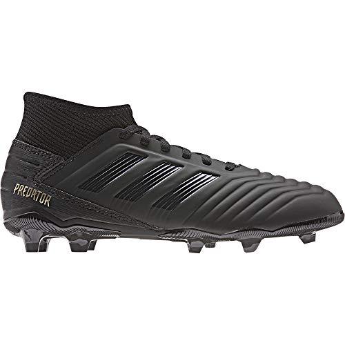 adidas Unisex-Kinder Predator 19.3 FG J Fußballschuhe, Mehrfarbig Core Black/Gold Met. 000, 38 2/3 EU (Gold Kinder Fußballschuh)