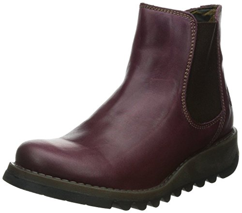 FLY London Salv Purple Leather Womens Ankle Boots-37
