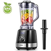 Blender Smoothie Maker, Aicok 1500W Commercial Blender with 32,000 RPM High Speed, 6 Sharp Blade, 4 Blending Presets for Ice/Nuts/Soup/Sauce, Anti-slip Base, 2L BPA Free Tritan Container & Tamper