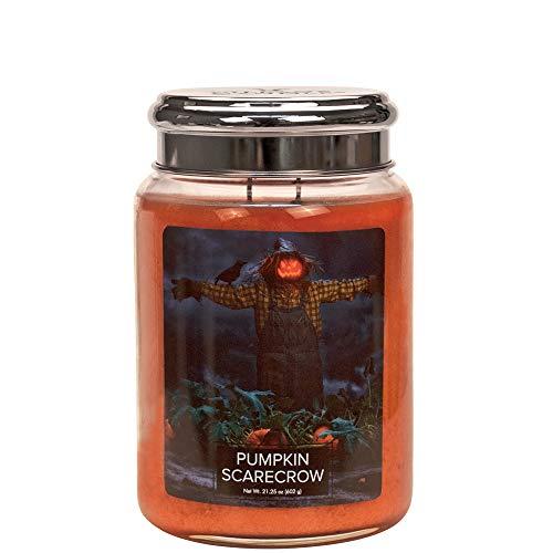 Village Candle Duftkerze im Glas, Duft: Kürbis Scarecrow, groß, 626 ml -