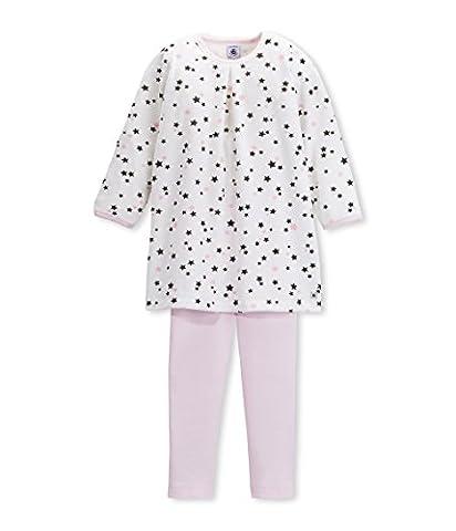 Petit Bateau Girl's Crew Neck Long Sleeve Pyjama Set - Multicoloured - 3 Years