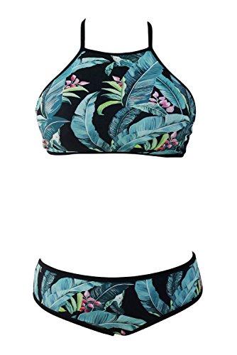 Pinkyee Damen Bikini-Set Pattern Color