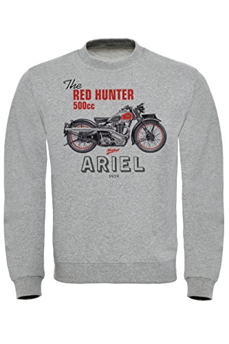 Hotfuel rot Hunter Motorrad Sweatshirt. Alle Größen (S-3X L) Gr. Small, medium - Hunter Jumper Sweatshirt