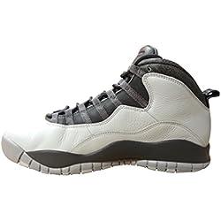 Nike Air Jordan Retro 10, Zapatillas de Baloncesto para Hombre, Plateado (Pr Pltnm / Mtllc Gld-Drk Gry-Cl), 45 EU