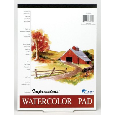 Carolina Pad 53025 22,9 x 30,5 cm Impressions Watercolor Pad