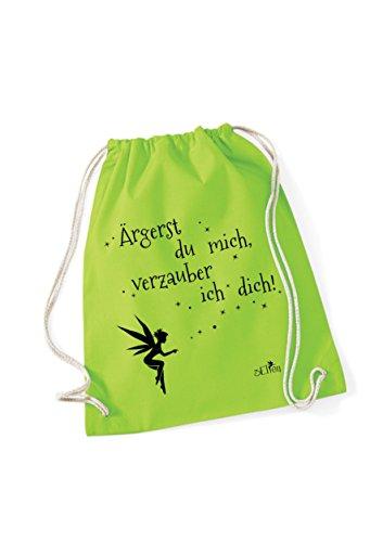 Turnbeutel Ärgerst du mich, verzauber ich dich bedruckt / Rucksack mit Sprüchen / Freizeitbeutel /...