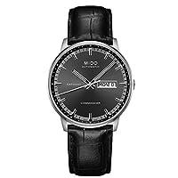 Mido hombre-reloj Commander II analógico automático piel M016, 430.16.061.22 de Mido
