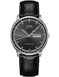 Mido Herren-Armbanduhr COMMANDER II Analog Automatik Leder M0164301606180