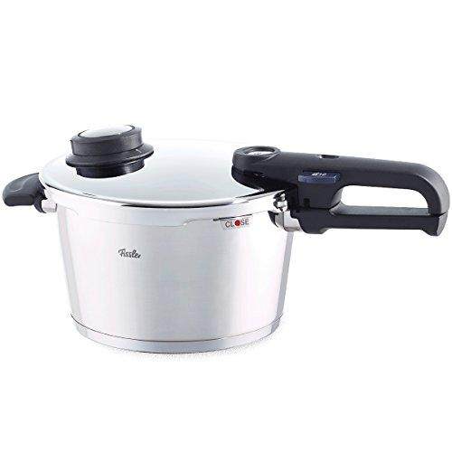 Fissler vitavit premium / Induktions-Schnellkochtopf (6 L, Ø 22 cm) Edelstahl-Dampfkochtopf, 2 Garstufen, stapelbar, alle Herdarten auch Induktion
