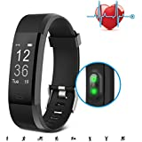 [Sponsored]Fitness Tracker, SAVFY GPS Activity Tracker With Heart Rate Monitor, 14 Training Modes Of Smart Bracelet With Step Tracker Sleep Monitor For Android And IOS (Black)