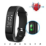 Fitness Tracker, SAVFY Activity Tracker mit Herzfrequenzsensor Smart Armband Gesundheit Smartwatch Armband Bluetooth Schrittzähler mit 14 Training Modi für Android und iOS Smartphones, Schwarz