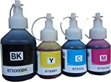 Compatible Brother BT5000 & BT6000BK Ink Bottles colour For Brother T300,T500,T700W,T800W Printers