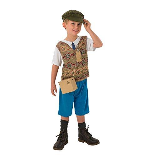 �m Rubies Unisex World War 1& 2Jungen Mädchen Fancy Dress Outfit Gr. Größe-S-S-3-4 Jahre, Evacuee Boy (Evacuee Kostüm Mädchen)