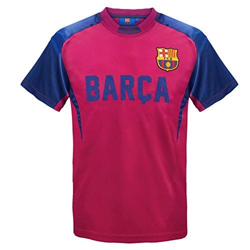 FC Barcelona - Camiseta oficial de entrenamiento - Para niño - Poliéster - Rojo - 8-9 años