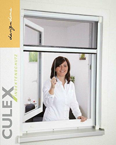 Insektenschutz Rollo Fliegengitter Insektenschutzrollo für Fenster SMART NEU 100 x 160 cm Farbe braun