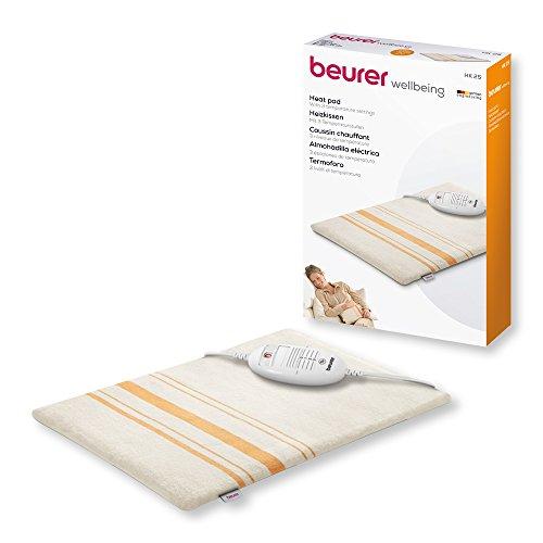 Beurer HK25 - Almohadilla electrónica, 40 x 30 cm, lavable, color blanco y naranja