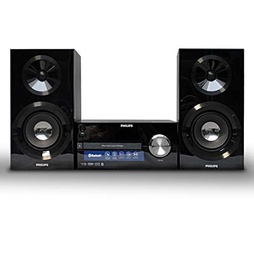 Philips BTM2585 - Microcadena Bluetooth, CD, USB, Radio, con Sonido Potente y...