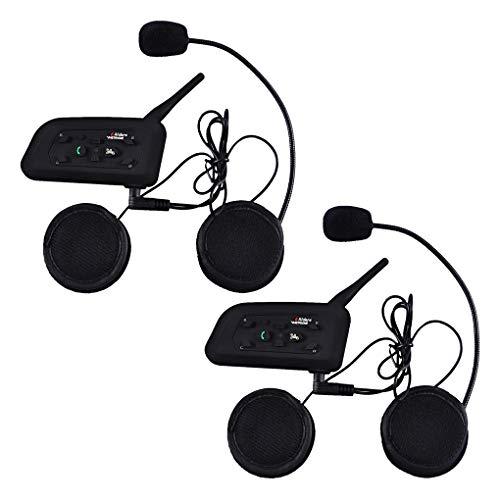 V6-1200 Meter drahtlose Bluetooth-Sprechanlage Motorrad-Sturzhelm Bluetooth Intercom wasserdicht Winddicht Headset im Freien Radfahren,Skifahren,Bergsteigen