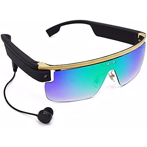 Lacaca inalámbrico Bluetooth Android Smart Glasses 8MP HD cámara, marco de aleación de titanio, G RAM + 8G ROM, 720p grabación de vídeo, 3horas tiempo de grabación, comando de voz y control táctil apoyo cámara disparo, televisión digital y social sharing sobre su facebook, YouTube,