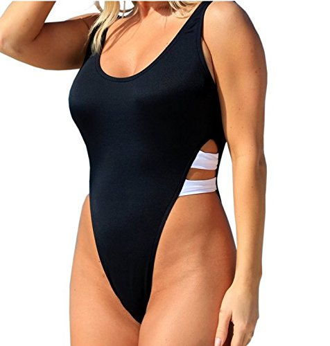 Mme summer maillot de sa capture d'arrière-noir Maillot bikini-YU&XIN Black