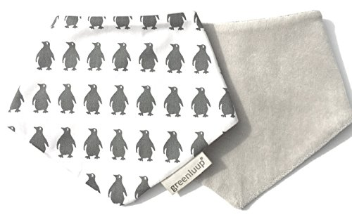 greenluup® kids Bio Baumwolle Nicki Dreieckstuch Spucktuch Baby-Lätzchen Halstuch Bandana Doppelpack mit verstellbaren Drucknöpfen