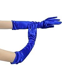 Lange Damen Handschuhe glänzend Elastische Satinhandschuhe Abendhandschuhe Brauthandschuhe bis zum Ellenbogen ca.53 cm für Hochzeit Party Karneval