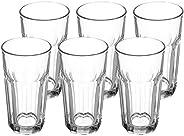Amazon Brand - Solimo High Ball Glasses, Set of 6 (325ml each)