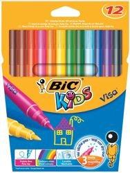 bic-kids-visa-felt-tip-pens-washable-fine-tip-assorted-ref-888695-pack-12