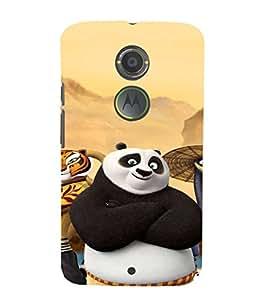 EPICCASE Cool Panda Mobile Back Case Cover For Moto X 2nd Gen (Designer Case)