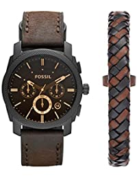 Fossil Chronograph Black Dial Men's Watch - FS5251SET