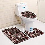 TAOtTAO Blut Handabdruck Badezimmer Toilette Drei Stück Bodenmatte Tür Matte Badezimmer Teppich (I)